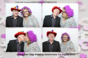 iain & jane, 30th wedding anniversary, 1st aug